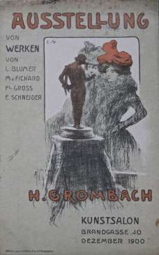 "Carte postale ""Salon Grombach 1900"". Archives privées."