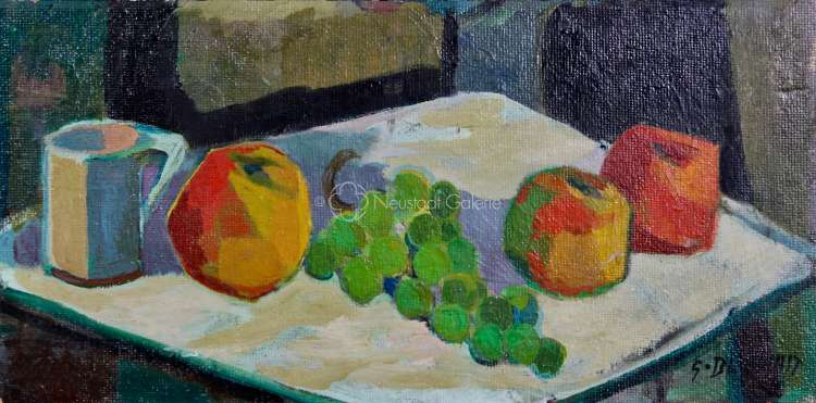 Gérard Bliekast - Nature morte aux fruits et pichet blanc
