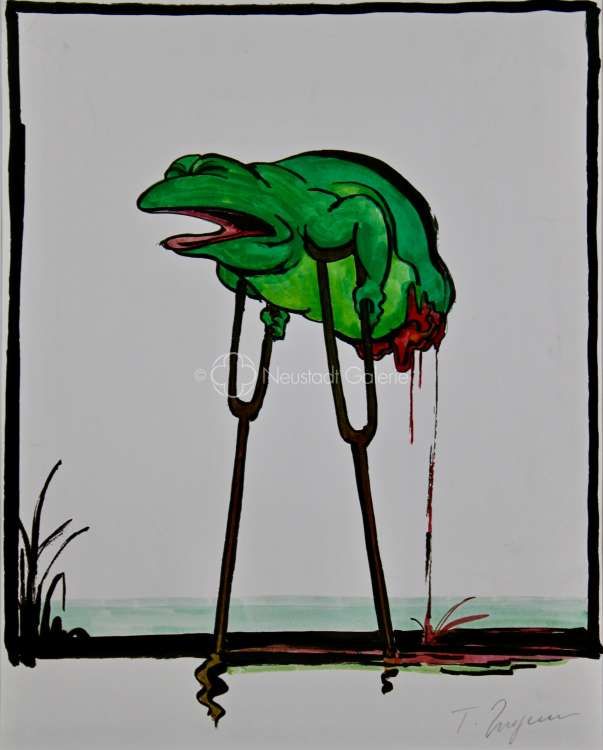 Jean-Thomas Ungerer - Amnisty animal (grenouille)